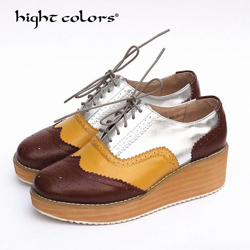 En F003 forme Rond silver White Brown brown Brown Femmes green Dentelle Taille Vente Chaussures Plate Yellow black 34 Cuir Étoiles Derby Up Oxford Coins Richelieu Vache pink gold Brown silver Bout 41 Pompes Green Chaude wnXq0v