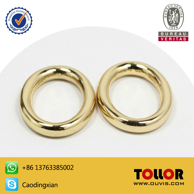 High Quality Bag Parts Oval Ring For Handbag Die-casting Zinc Alloy DIY O Ring Hardware Luggage Travel Accessories