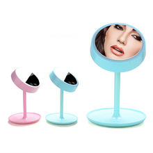 High Quality USB Charged 2 in 1 Makeup Mirror Table Lamp LED