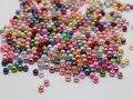 2000 смешанный цвет 3 мм пластиковые искусственного жемчуга круглые бусины имитация жемчуга семян бусины