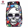 Halloween Colorful Hiphop Devil Skull Mens Travel Backpack Printing Backpacks for Adults Laptop School Bags Personalized