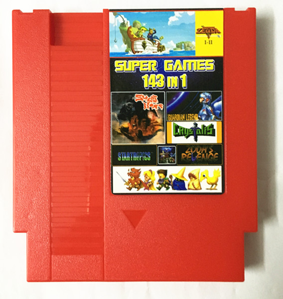 NES 143 in 1 spiel patrone, Earthbound FinalFantasy123 Faxanadu TheZelda12 Megaman123456 Turtles1234 Kirby'sAdventure