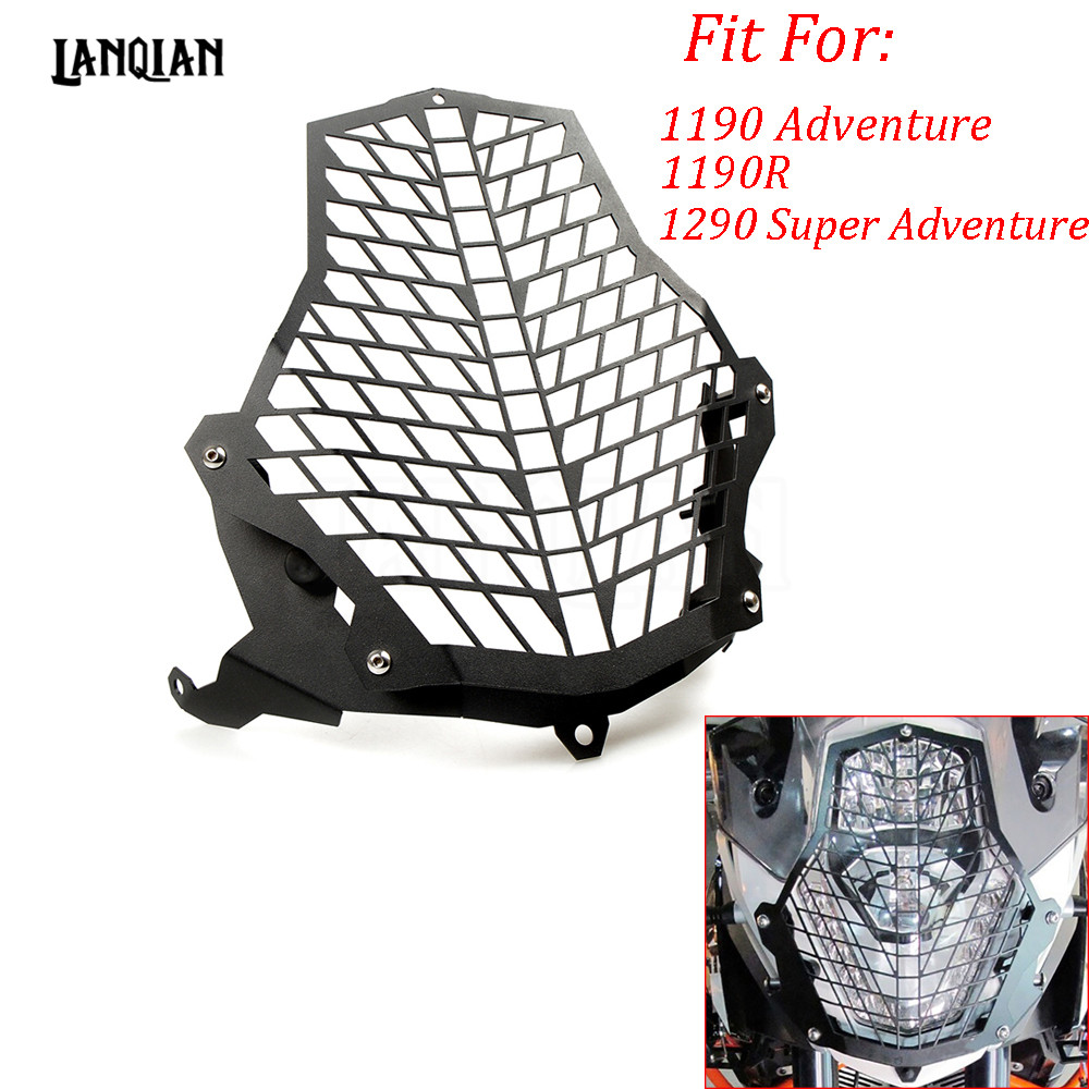 Hot For KTM 1190 Adventure/1190R/1290 Super Adventure Motorcycle Accessories Headlight Head light Grill Guard Cover Protector for ktm excr