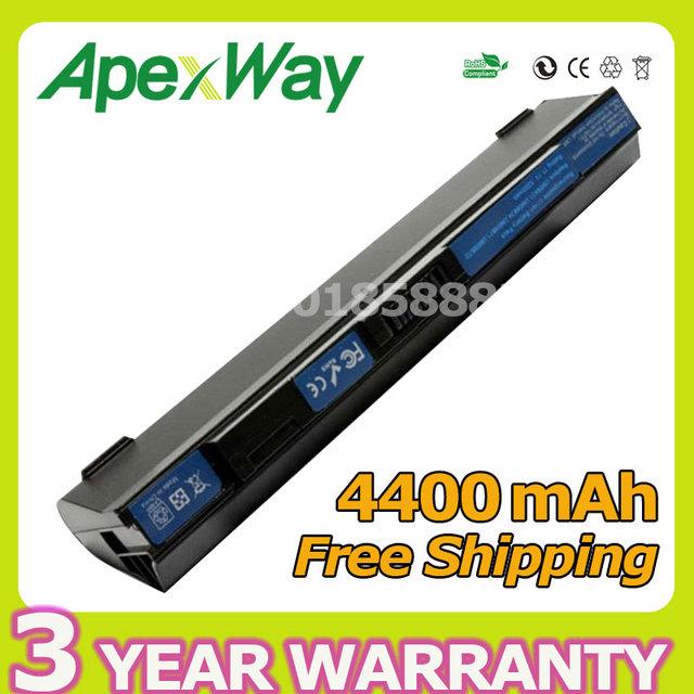 Apexway s6 batería del ordenador portátil para acer aspire one 531 751 751 h ZG8 ZA3 UM09A71 UM09B31 UM09B7D UM09B71 UM09B73 UM09B7C UM09B34