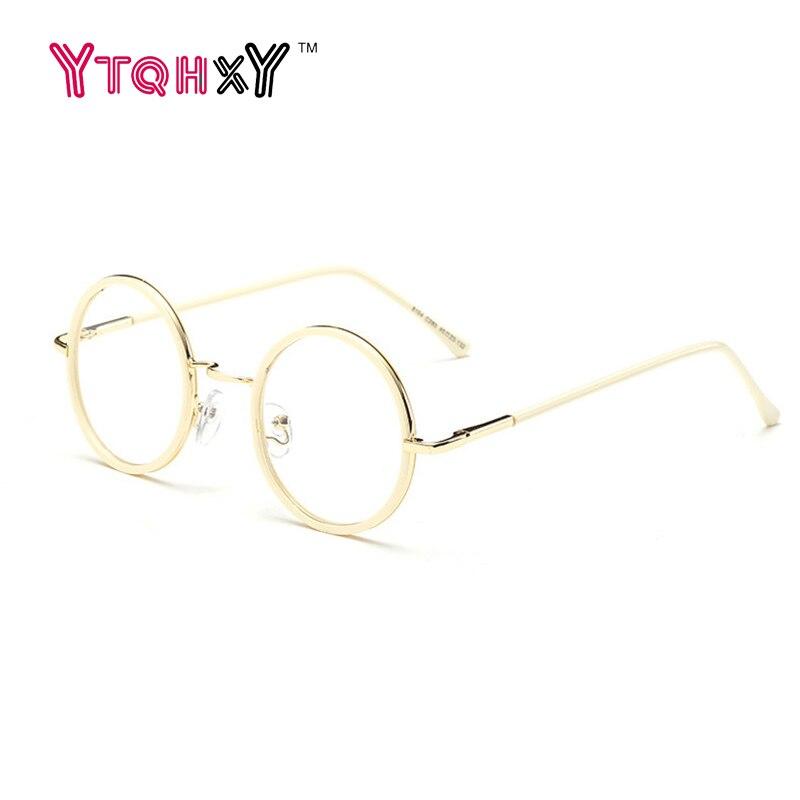 Runde brille rahmen Frauen Metall Brillen Rahmen Klare Linse brillen ...
