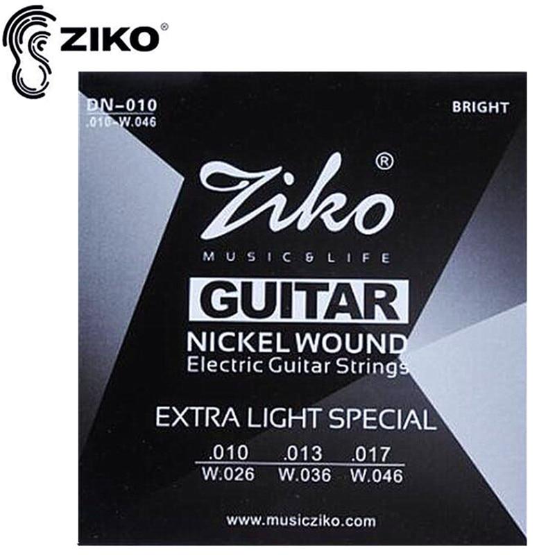 ZIKO cuerdas de guitarra. 010-.046 cuerdas para Guitarra Eléctrica partes de gui