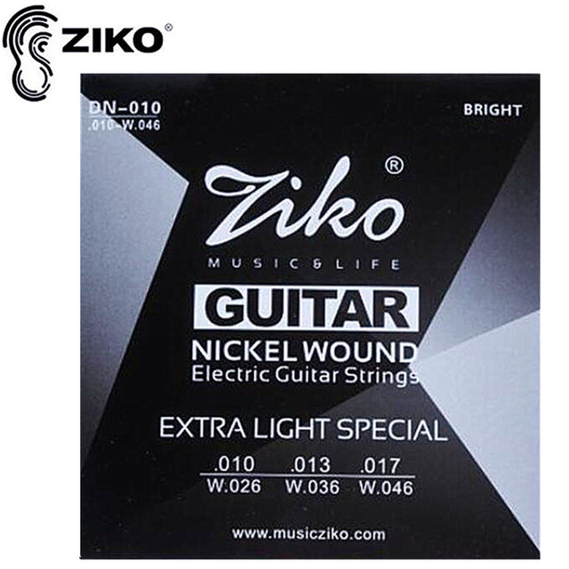 ZIKO guitar strings .010-.046 Electric Guitar strings guitar parts musical instruments Accessories