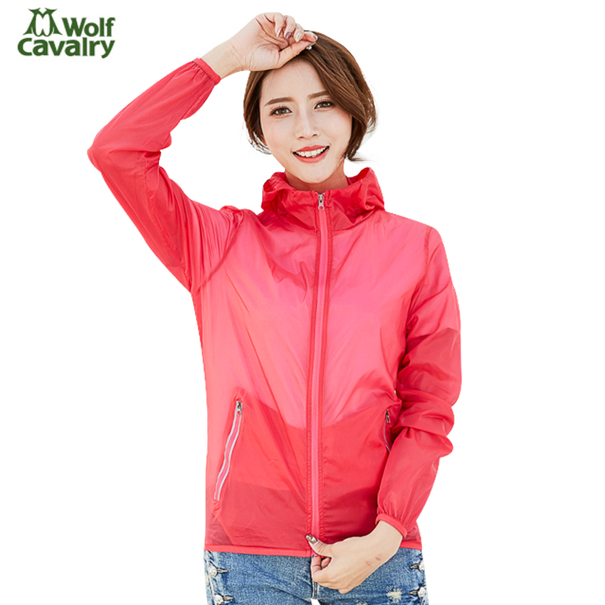 CavalryWolf Women's Quick Dry Softshell UV Jackets Spring Outdoor Fishing Camping Hiking Trekking Windbreakers Female Coat MB125