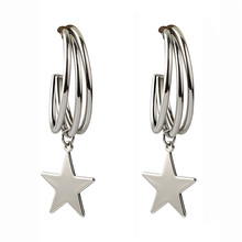 ECODAY Fashion Star Drop Earrings for Women Korean Earrings Silver Gold Color Earrings 2019 Pendientes Brincos Jewelry gold color with star hotpink butterfly star drop earrings