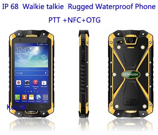 IP68 Waterdichte Telefoon Shockproof Radio Walike Talkie Unlocked mobiele telefoons originele VHF Telefoon Robuuste Android NFC S19 - 2