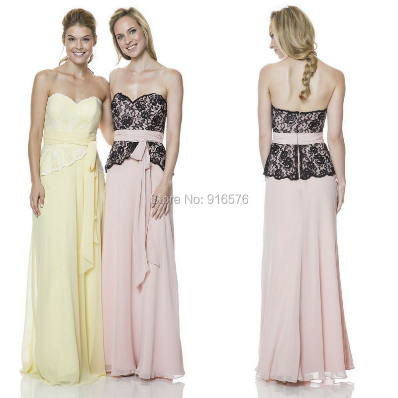 2015 lace bodice two tone bridesmaid dresses soft for Two color wedding dress