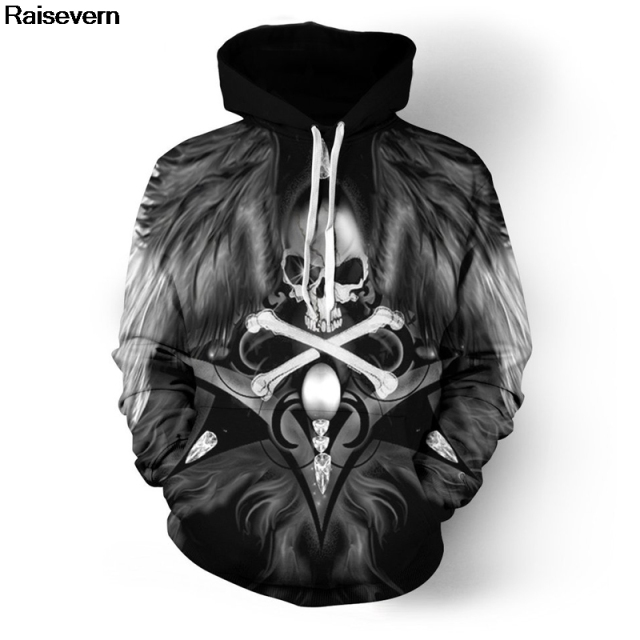 Motorcycle Art Skull Hoodie Men Women Spring Autumn Pullover Hoody Tops Casual Tracksuit All Over Printed 3D Hoodies Sweatshirts