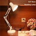 Led Table Lamp Iron Morden American Foldable Long-Arm Desk Lamp Reading Lamp E27 base 110/220V AC with Plug