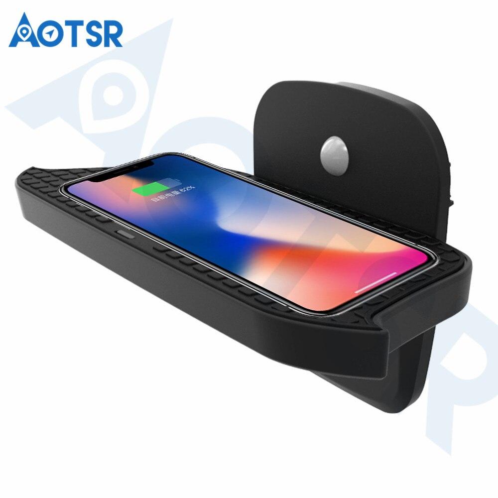 Aotsr chargeur de voiture sans fil pour BMW MINI F55/F56 2017-2019 Intelligent infrarouge rapide sans fil voiture de charge pour téléphone/Sumsang/Nokia
