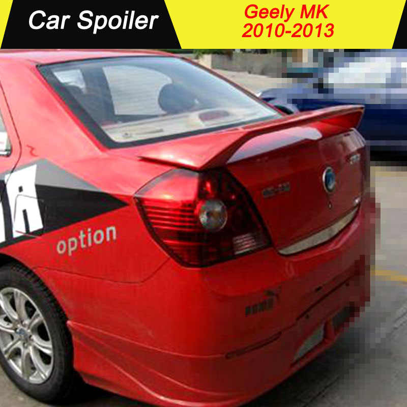 FOR GEELY MK 2010 2011 2012 2013 rear trunk roof wing spoiler high quality with stop light ABS material spoiler for geely MK