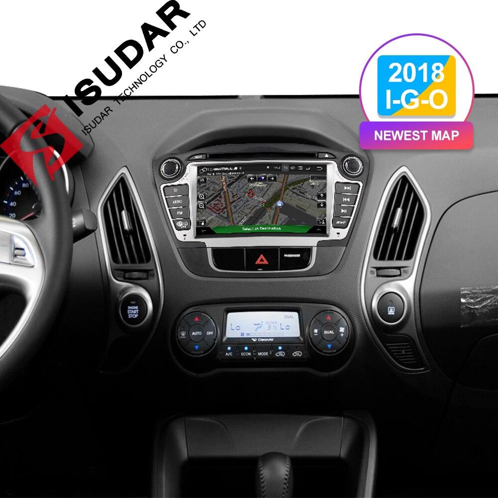Lecteur multimédia de voiture Isudar GPS 2 Din Android 9 pour Hyundai/IX35/TUCSON 2009-2015 Radio automatique Canbus lecteur DVD DVR USB DSP FM - 2
