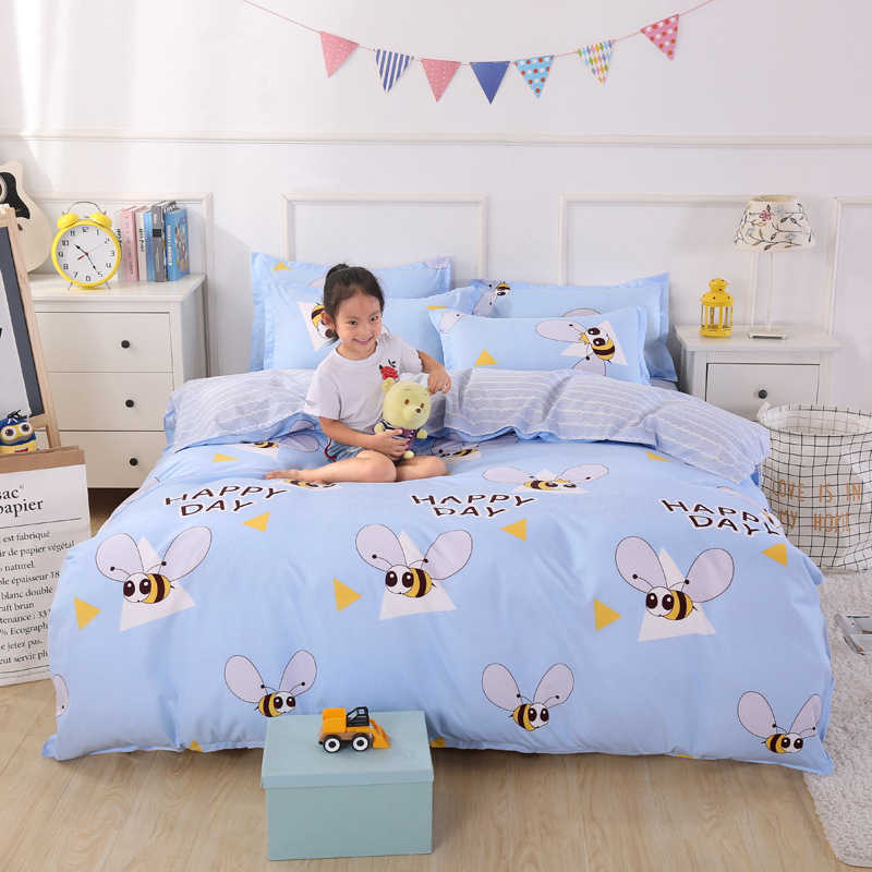 Duvet Cover 3/4 pcs Bedding Set Adult Kids Child Bed Linens Single Full Queen King Size Quilt Comforter Case Bedspreads24