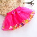 4pcs / Lot Korean girls tutu skirts network petal bright beads bow baby cake skirt Spring, summer, autumn pettiskirt M L XL XXL