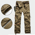 Mens Cargo Pants Fashion 2017 New Outdwear Black Khaki Pants Trousers Sweatpants Baggy Casual Pants Pantalones Overalls