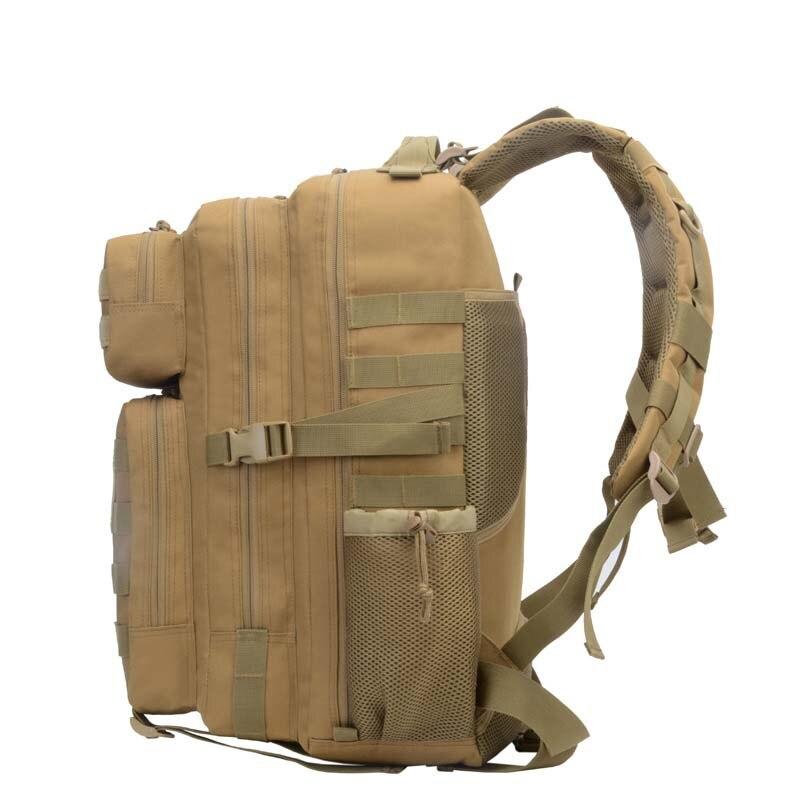 45L imperméable à l'eau haute capacité Sport en plein air sac à dos tactique escalade randonnée Trekking toile sacs de voyage - 2