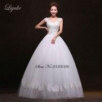 Custom Made Liyuke Marvelous Tulle V Neck Ball Gown Wedding Dress Beaded Crystals Floor Length Off