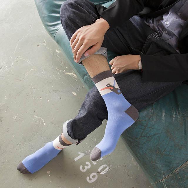 819698805f5 Fashion High Quality Happy Socks Novelty Men s Socks Harajuku Style Cotton  Socks Men Bear Pattern rubchinskiy