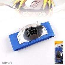 1pc Cool Naruto Forehead Fashionable Guard Headband Cartoon Anime Cosplay Uzumaki Naruto Headband Toy Gift For Kids #E