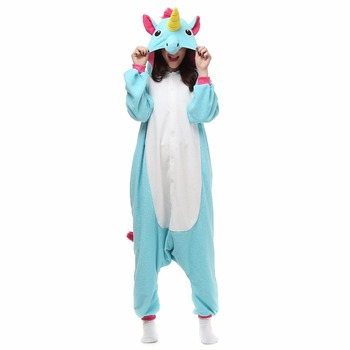 Adult unicorn pajamas for women Flannel onesies for adults animal pajamas one piece Men Women sleepwear unicorn pyjama pajamas