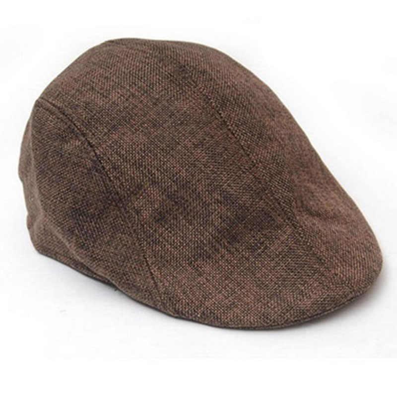 b94f2eb59564e ... 2018 Summer Beret Caps for Men Women Vintage news boy cap Cabbie Gatsby  Linen Outdoor Hats ...