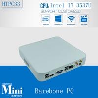 X86 вычислений дешевые Мини ПК Оконные рамы 7 мини NUC Smart PC Intel Core i7 3537u 2 ГГц Barebone 300 м Wi Fi