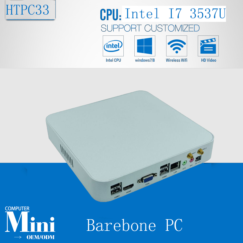 X86 Computing Cheap Mini PC Windows 7 Mini Nuc Smart PC Intel Core i7 3537U 2GHz