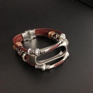 Image 3 - Mi Band 2 Leather Strap for Xiaomi Mi Band 2 Bracelet Screwless Strap MiBand 2 Wristbands Replacement Mi band 2 Wrist Strap