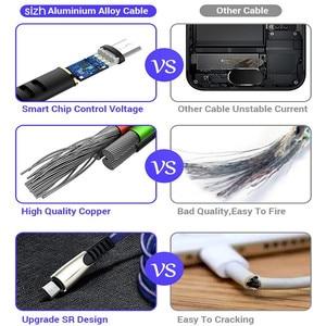 Image 5 - כבל USB עבור iPhone XR USB סוג C מהיר טעינת usb c כבל עבור סמסונג S9 S8 Xiaomi Pocophone F1 טלפון מטען מיקרו USB כבל