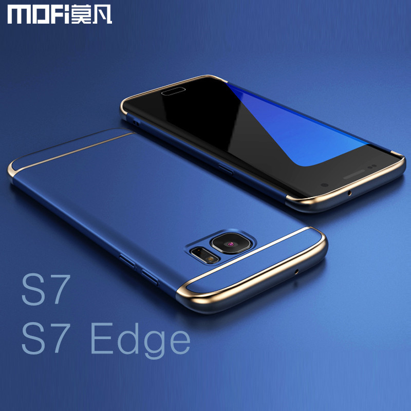 new arrival 60f71 9e142 US $5.99 40% OFF|For Samsung S7 edge case for Samsung S7 case MOFi back  cover hard coque for galaxy s7 edge cover s7 capa funda luxury gold blue-in  ...