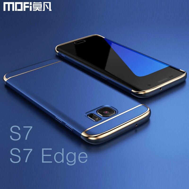 d008c3c7526 Para Samsung S7 edge funda para Samsung S7 funda trasera de MOFi funda dura  para galaxy s7 edge funda s7 capa funda de lujo de oro azul en Cajas  ajustadas ...