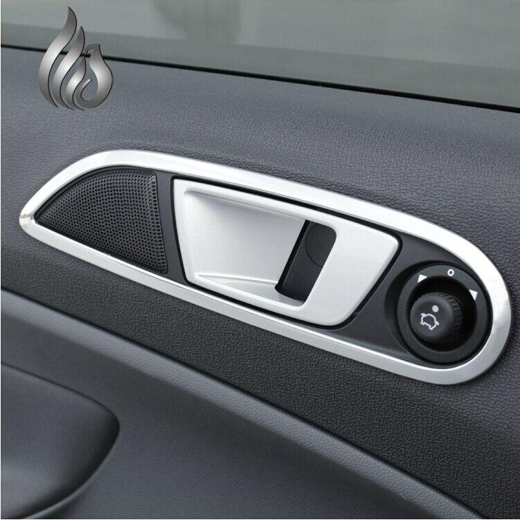 For Ford New Fiesta Ecosport interior door handle decorative cover decoration ring stickers for ecosport fiesta & Popular Fiesta Door Handle-Buy Cheap Fiesta Door Handle lots from ... Pezcame.Com