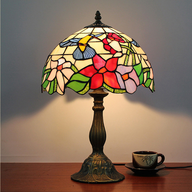Hot sale european style retro garden art glass bird decoration table hot sale european style retro garden art glass bird decoration table lamp bedroom 30cm tiffany table aloadofball Gallery
