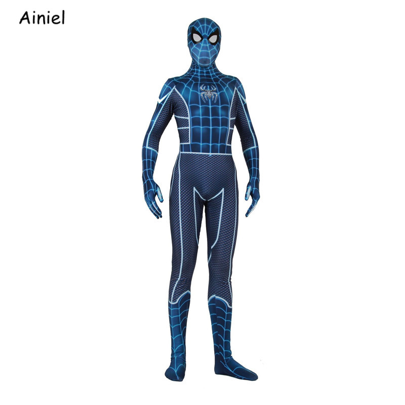 Spiderman Ps4 Insomniac Games Spider Man Fear Itself Cosplay Costume Mask Spider Man Superhero Zentai Halloween Adult  Men Kids