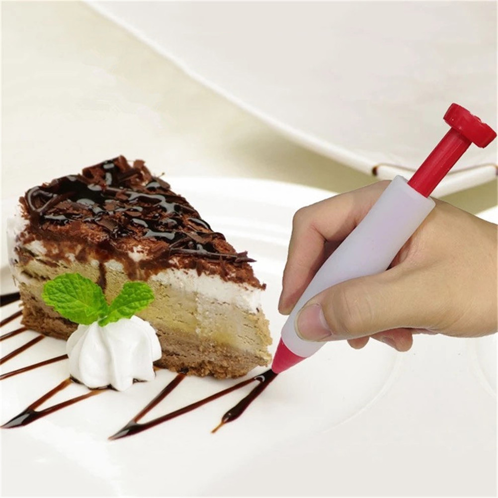 1Pc Cookie Pens Silicone Alimentare Penna di Scrittura Cioccolato Plate Paint Pen Costo-Effictive Cake Ice Cream Decorating