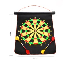 Indoor Sport Dart 2 Side Magnetic Flocking Dartboard Free 4 Darts + 1 Dart Board Mens Entertainment SMBB-01