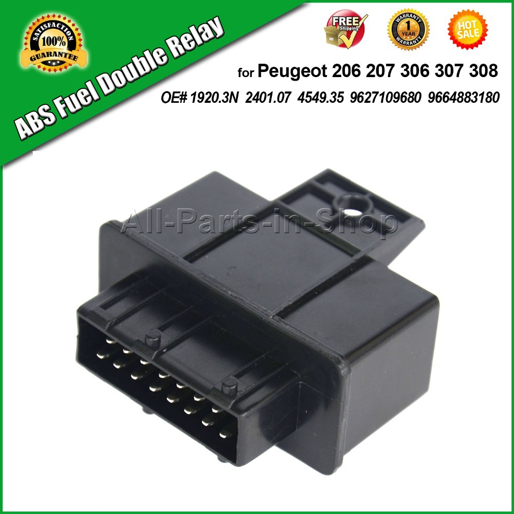 buy free shipping 1 x abs fuel double relay for peugeot 206 207 306 307 1007 oe. Black Bedroom Furniture Sets. Home Design Ideas