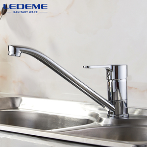 Image 2 - LEDEME Kitchen Faucets New Single Handle Pull Out Kitchen Tap Single Hole Handle Crane Chrome Plated Sink Mixer Tap L4903