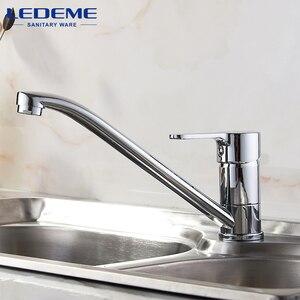 Image 2 - LEDEME mutfak musluk yeni tek kolu Pull Out mutfak musluk tek delik kolu vinç krom kaplama lavabo bataryası musluk L4903