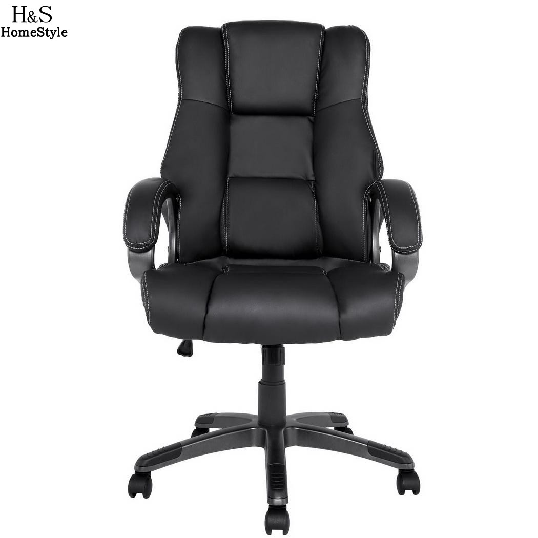 Homdox Office Chair Lift Chairs Ergonomic PU Leather High Back Office Chair with Armrests Boss Chairs N30*
