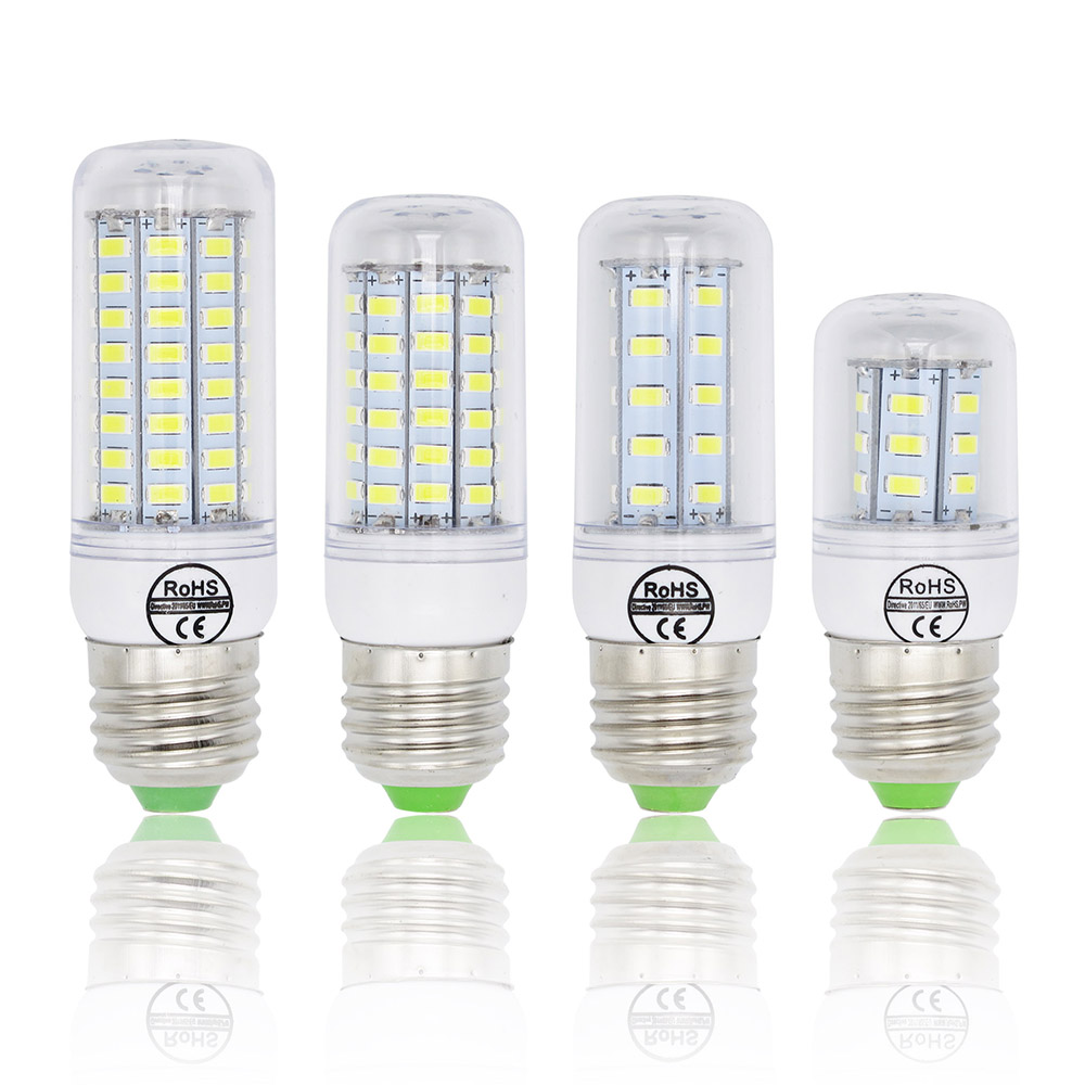 SMD 5730 E27 LED Lamp 5730SMD Lights Corn Led Bulb 24 36 48 56 69 72Leds Chandelier Candle Lighting Home Decoration 7w 15w 20w