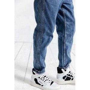 Image 4 - سيموود جينز 2020 الجديد موضة الربيع الرجالي مخطط من جان هوم حجم اضافي سروال دينم طويل الى الكاحل موضة 190025