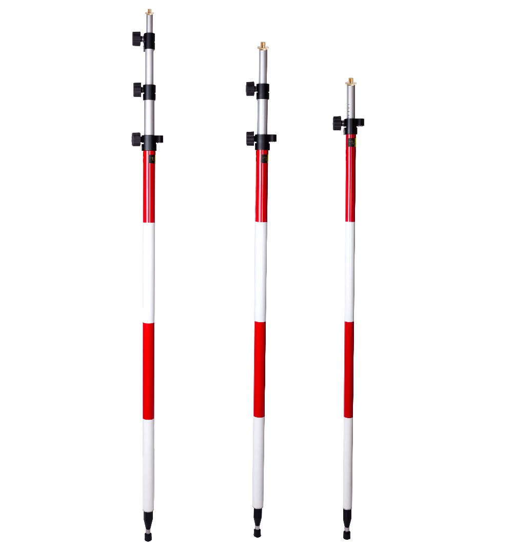 New LETER    Prism Pole, Surveying for  Survey rod pole  With 5/8 x11 thread