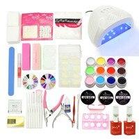 UV GEL Varnishes 48W UV LED Lamp 12 Color Gel Nail Polish Nail Art Tool Kits
