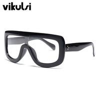 2017 Clear Glasses Myopia Rivet Big Glasses Women Men Spectacle Frame Sexy Clear Lens Optical Clear