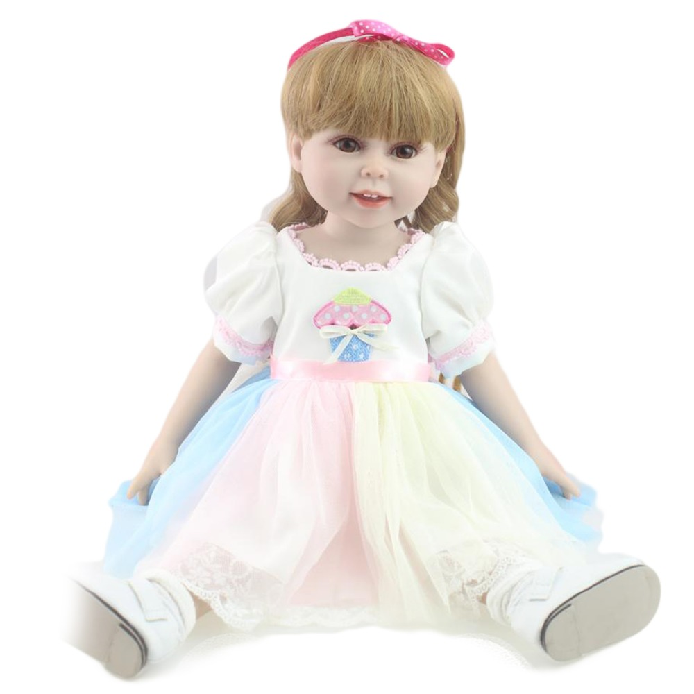 Full body silicone baby for sale 2015 - 45cm Full Body Silicone Reborn Baby Dolls For Sale 18inch Very Soft Lifelike Girls American Doll